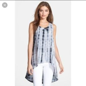 Anthropologie Everleigh tie dye lace back tank